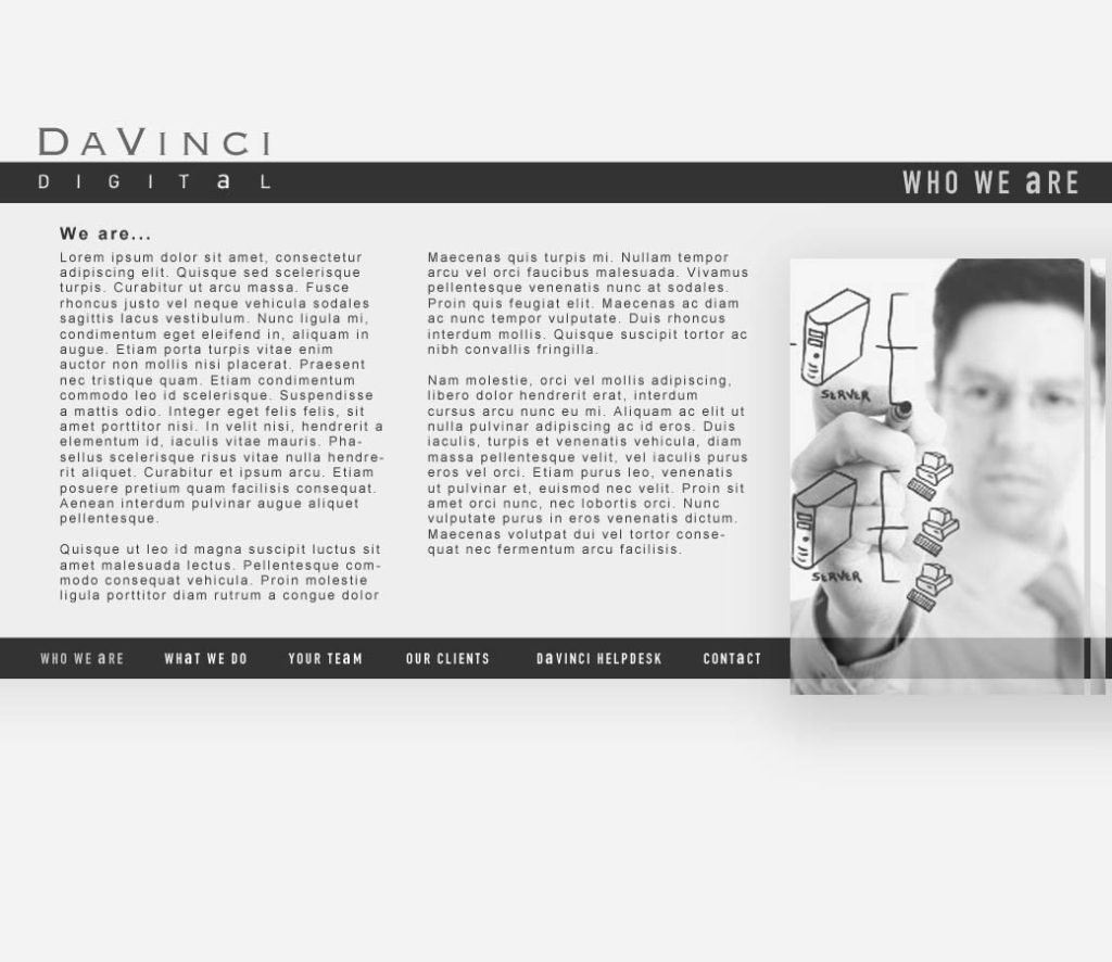 davinci site design
